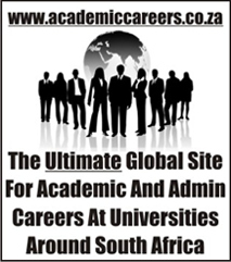 The Ultimate Global Site For Academic and Admin Careers At Universities South Africa
